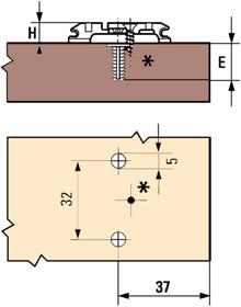 kreuzmontageplatten blum ferroflex online shop. Black Bedroom Furniture Sets. Home Design Ideas