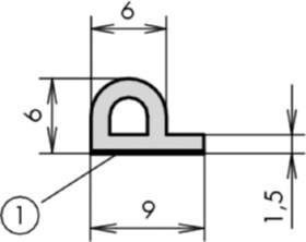 moosgummi profil epdm einseitig selbstklebend hasler co ag. Black Bedroom Furniture Sets. Home Design Ideas